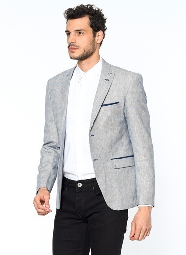 Slim Fit Blazer Ceket-Dewberry